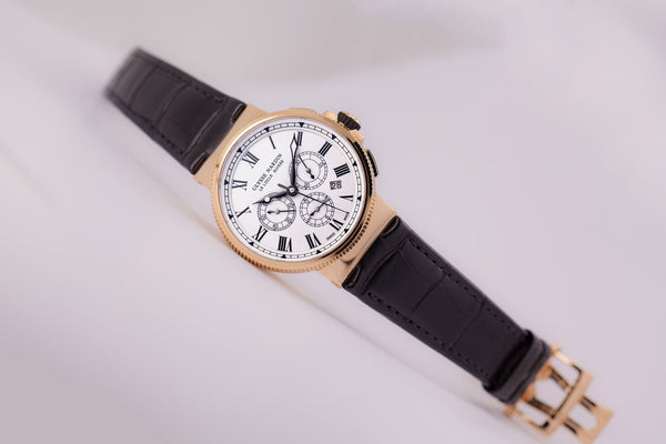 Ulysse Nardin Marine Chronograph Limited Edition 18kkt Gold Manufacture - The Luxury Well