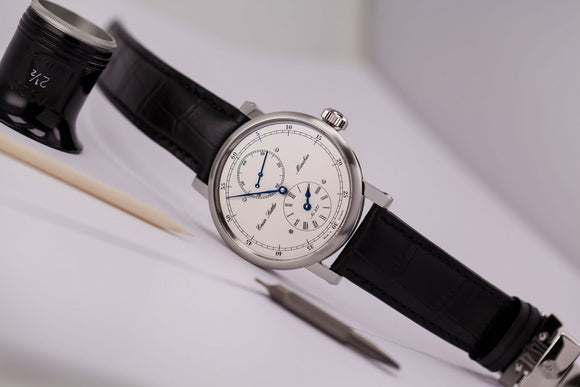 Erwin Sattler Regulateur Classica Secunda Jumping Second Stainless Steel - The Luxury Well