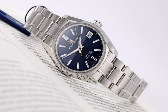 Seiko Grand Seiko Hi Automatic Beat Blue Shubun: The Autumnal Fall Edition - The Luxury Well