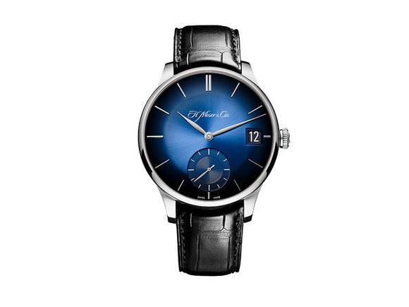 H.Moser & Cie. Venturer Big Date White Gold, Midnight blue Fumé Dial - The Luxury Well