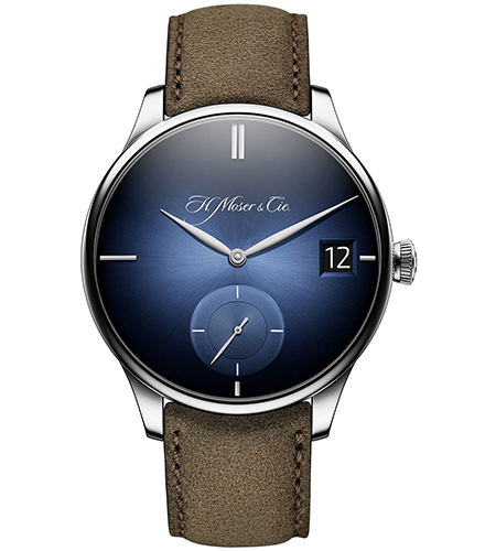 H.Moser & Cie. Venturer Big Date White Gold, Purity Funky Blue Fumé Dial - The Luxury Well