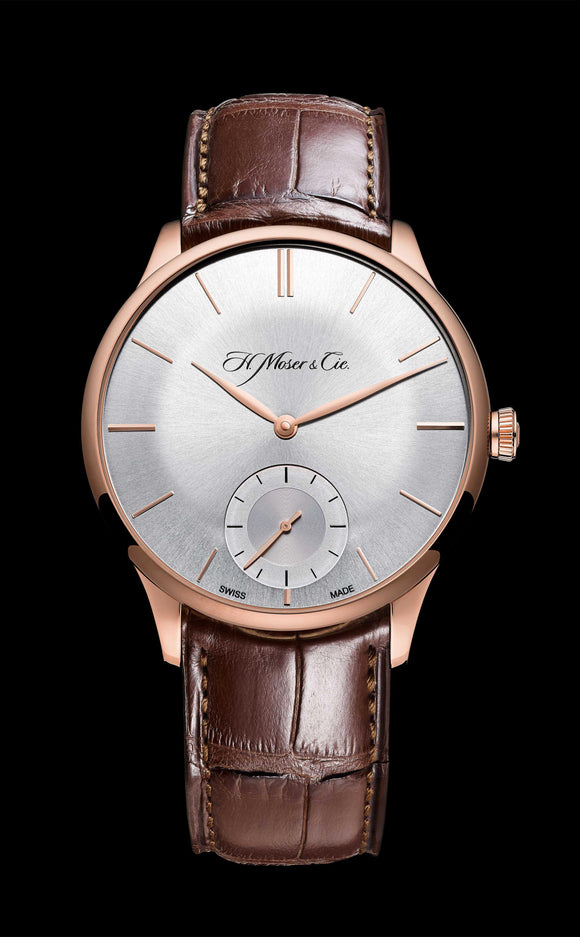 H.Moser & Cie. Venturer Small Seconds Red Gold, Argenté Dial - The Luxury Well
