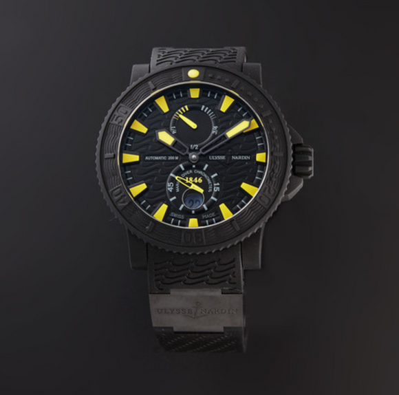 Ulysse Nardin Marine Black Sea Black Dial 45.5mm - The Luxury Well