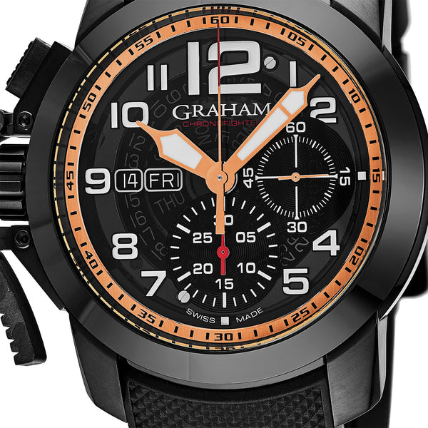 Graham Chronofighter Chronograph Automatic Black Smoke Dial - The Luxury Well