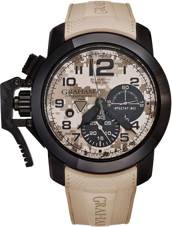 Graham Chronofighter Oversized Chronograph Sand Camouflage Print - The Luxury Well