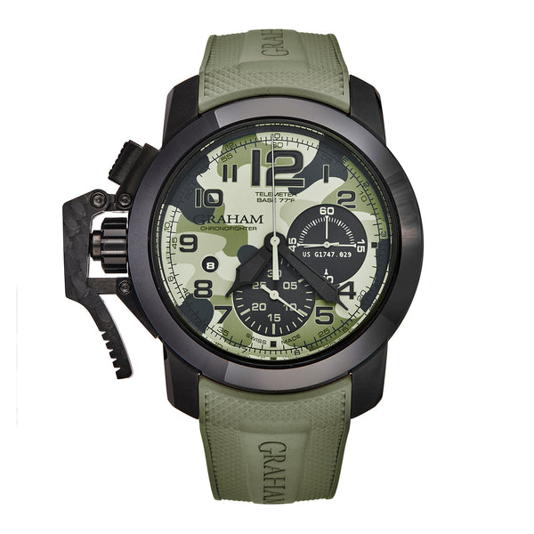 Graham Chronofighter Oversized Chronograph Automatic Khaki Green - The Luxury Well