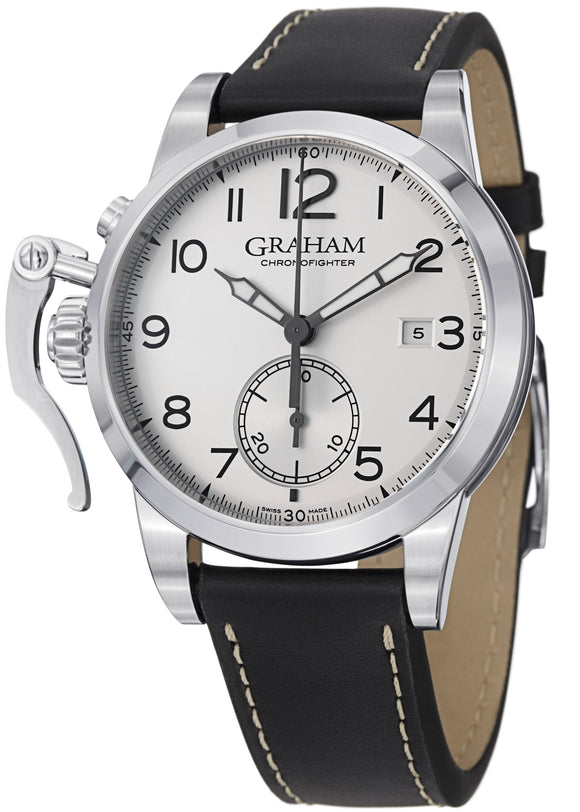 Graham Chronofighter Chronograph Automatic Silver Dial - The Luxury Well