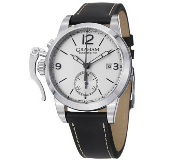 Graham Chronofighter 1695 Automatic Chronograph Silver Dial - The Luxury Well