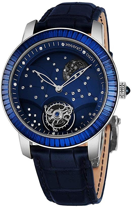 Graham Geo The Moon Tourbillon Hand Wound Men's Special Edition - The Luxury Well