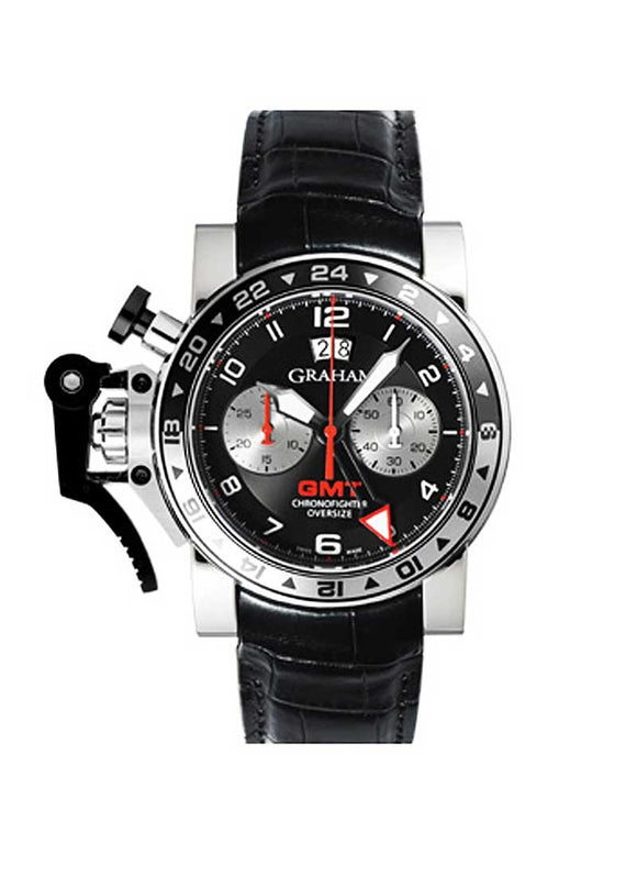 Graham Chronofighter Oversized GMT Automatic Black Dial - The Luxury Well