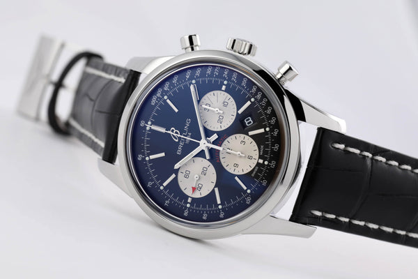 Breitling Transocean Chronograph Steel Reverse Panda - The Luxury Well