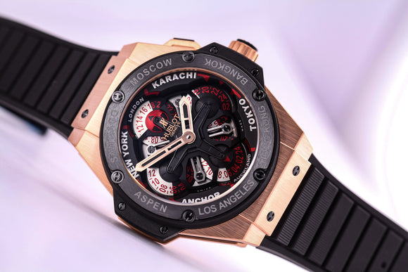 Hublot Big Bang King Power Unico GMT King Gold Black - The Luxury Well