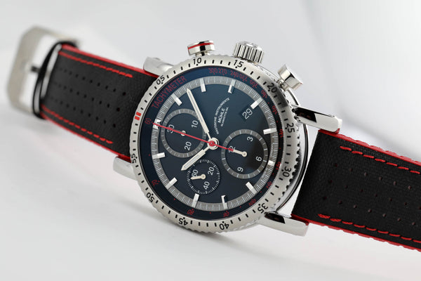 Mühle Glashütte Teutonia Sport I Chronograph Black/Red - The Luxury Well