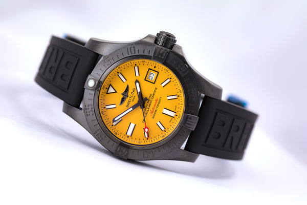 Breitling Avenger II Seawolf Blacksteel Ltd. Edition w Folding Buckle - The Luxury Well