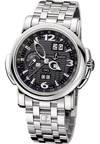 Ulysse Nardin GMT Perpetual Black Dial 18kt White Gold 42mm - The Luxury Well