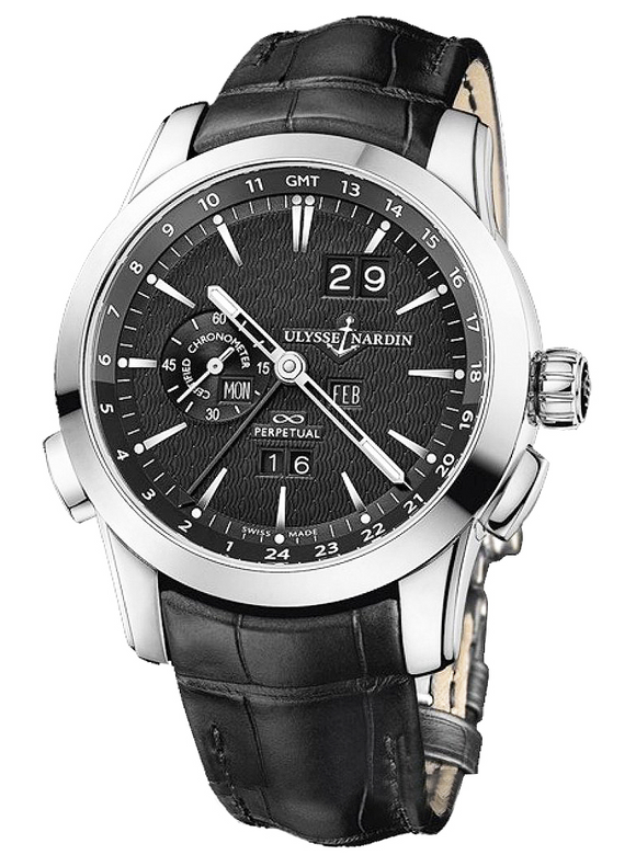 Ulysse Nardin Perpetual Manufacture Automatic Chronometer Black Dial 43mm - The Luxury Well