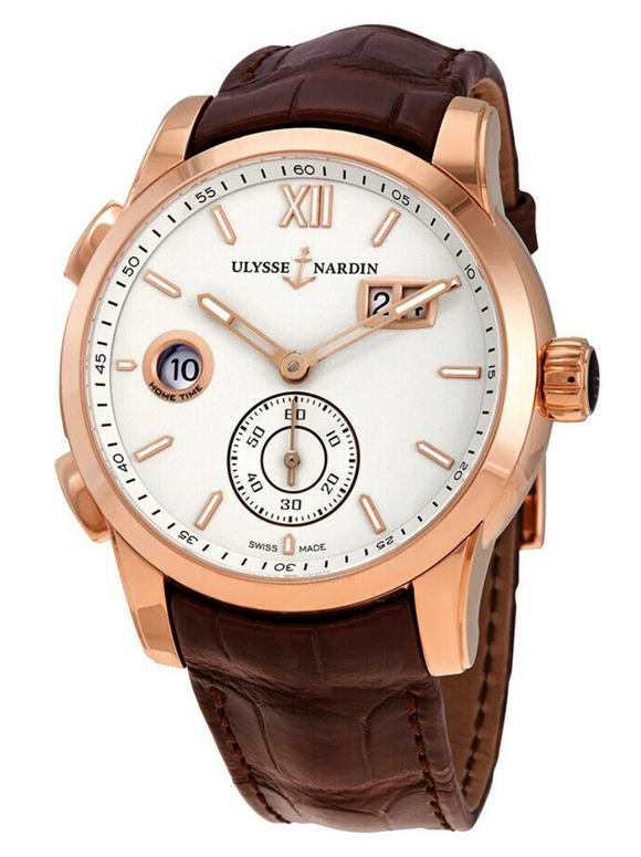 Ulysse Nardin Dual Time Automatic Eggshell Dial 42mm - The Luxury Well