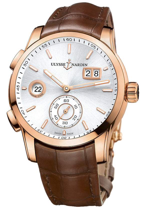 Ulysse Nardin Dual Time Automatic Silver Sun-Ray Dial - The Luxury Well