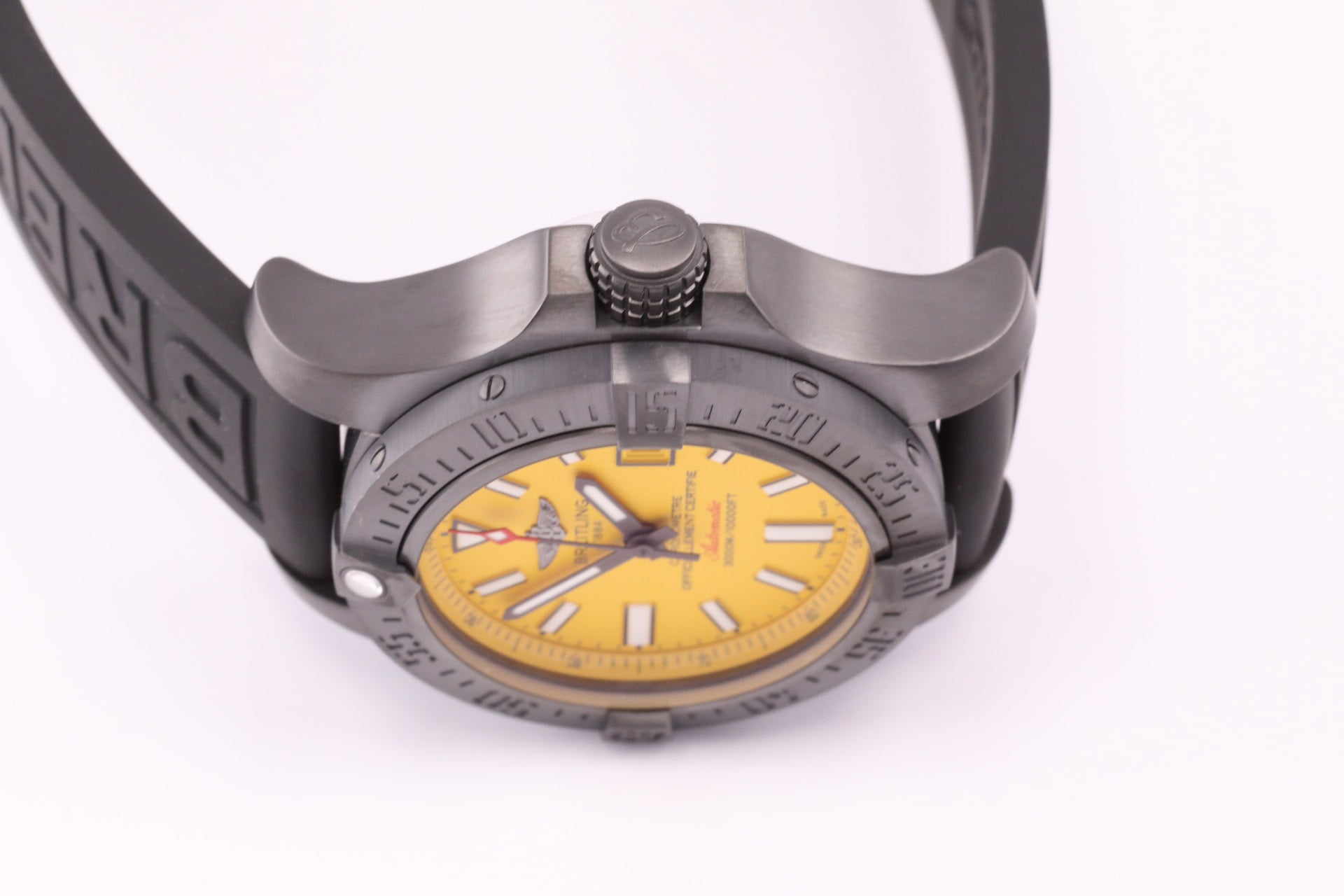 Breitling Avenger II Seawolf Blacksteel Ltd. Edition w Folding Buckle