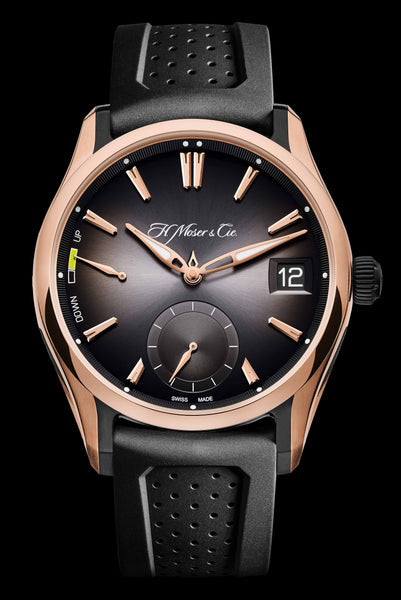 H.Moser & Cie. Pioneer Perpetual Calendar 18k Red Gold and Titanium - The Luxury Well