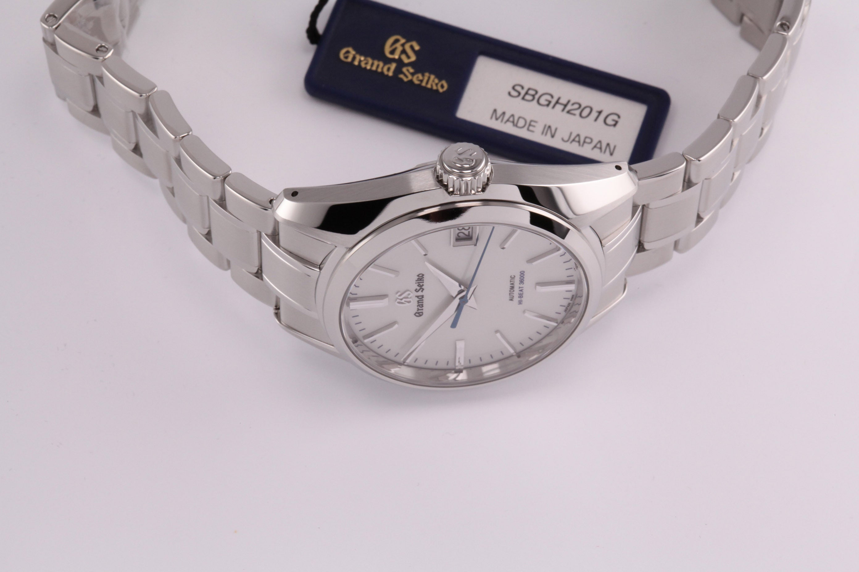 detailed look 7eb47 a41dc Grand Seiko Automatic Hi Beat Silver Dial (New Model ...