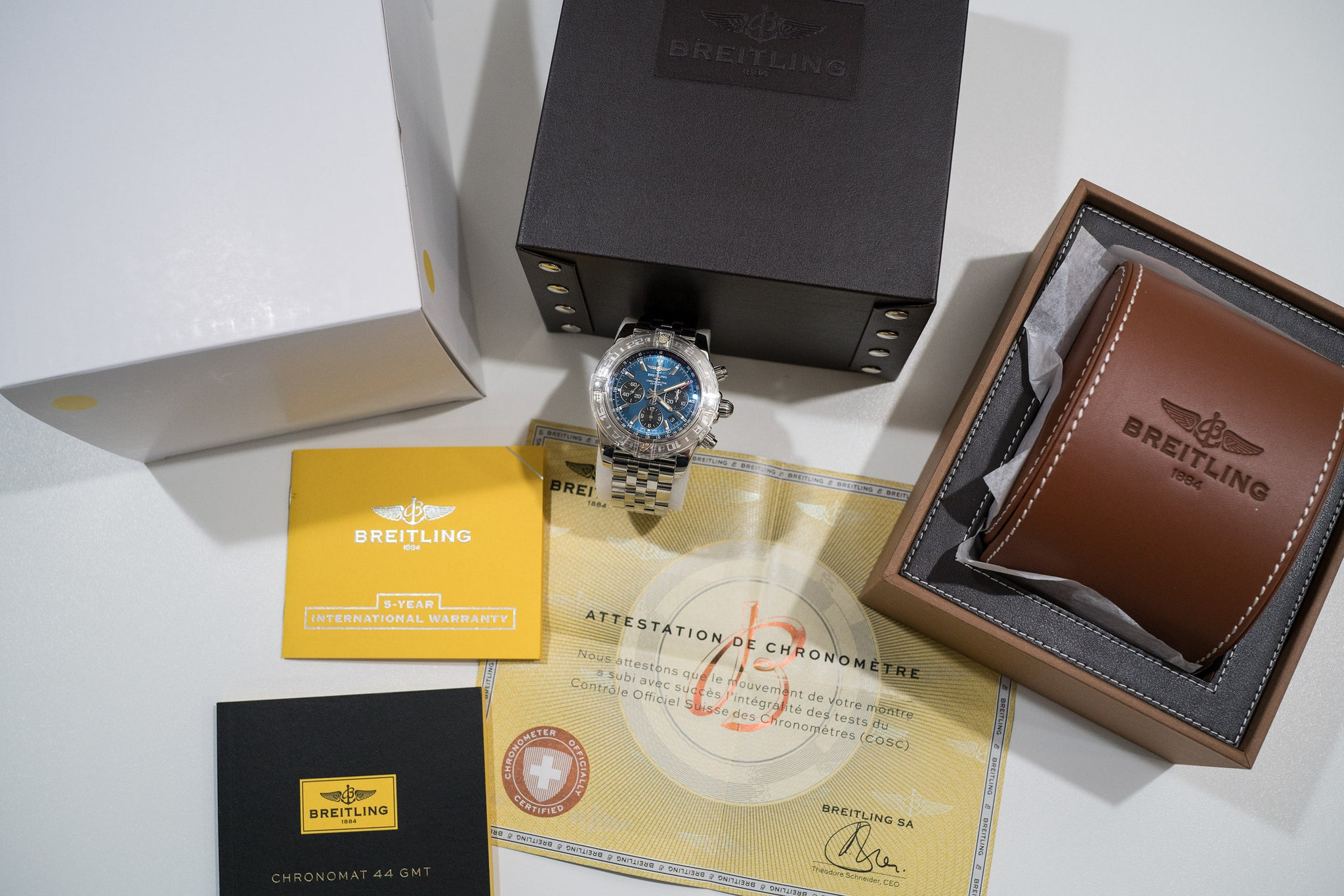Breitling Chronomat 44 GMT Blue Dial Automatic In-House