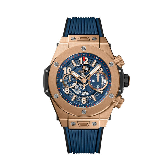 Hublot Big Bang Unico King Gold Blue 45mm - The Luxury Well