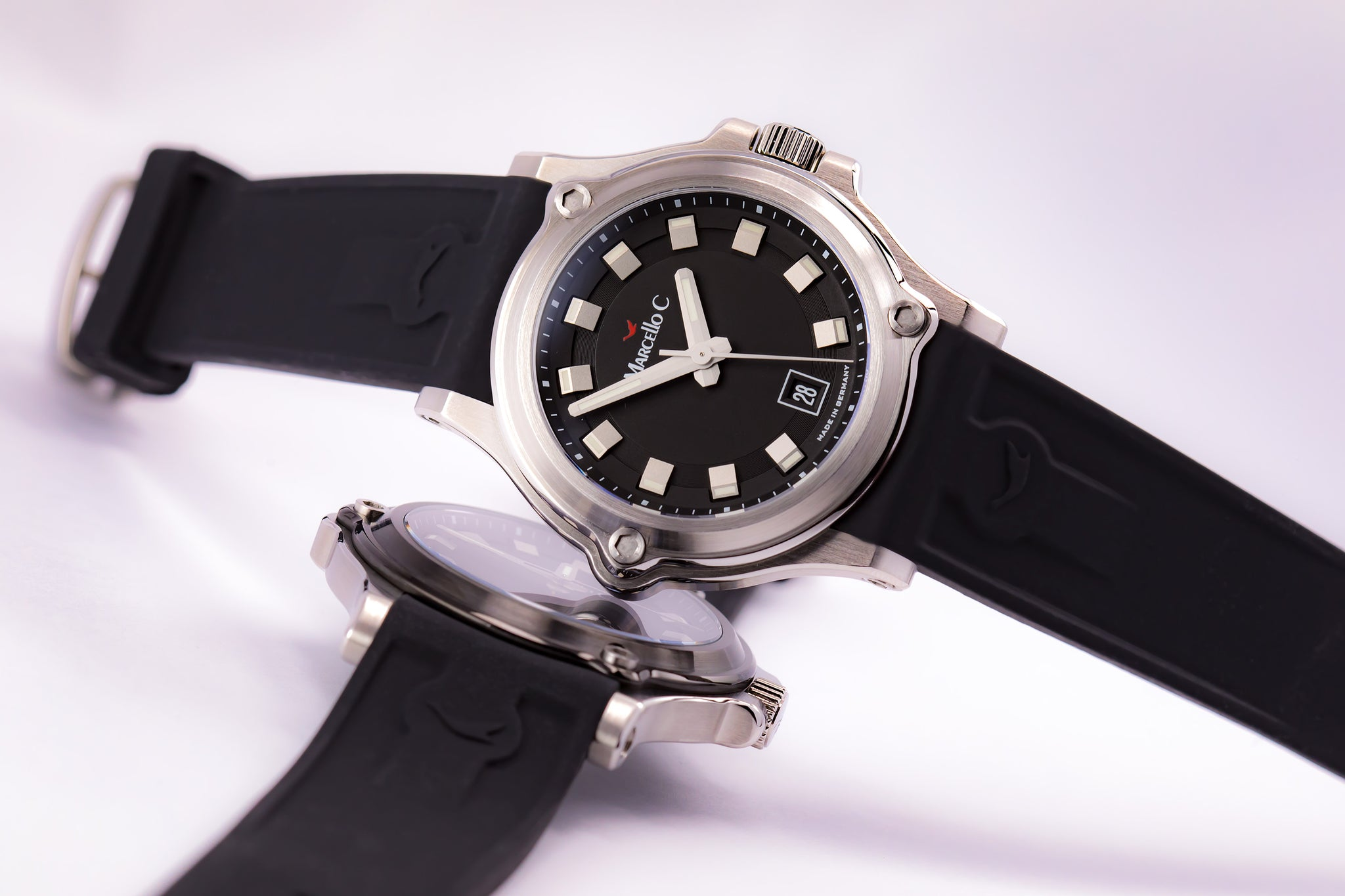 Marcello C. Marine Automatic Steel/PVD 200m Porthole