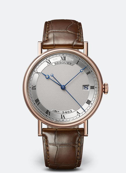 Breguet Classique 18kt Rose Gold Silvered Gold Dial - The Luxury Well