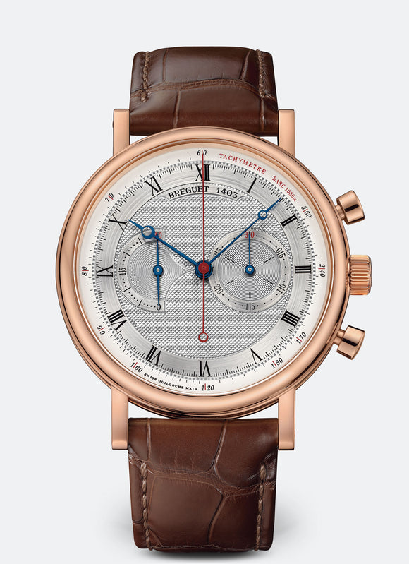 Breguet Classique 5287 18kt Rose Gold Silvered Gold Dial - The Luxury Well