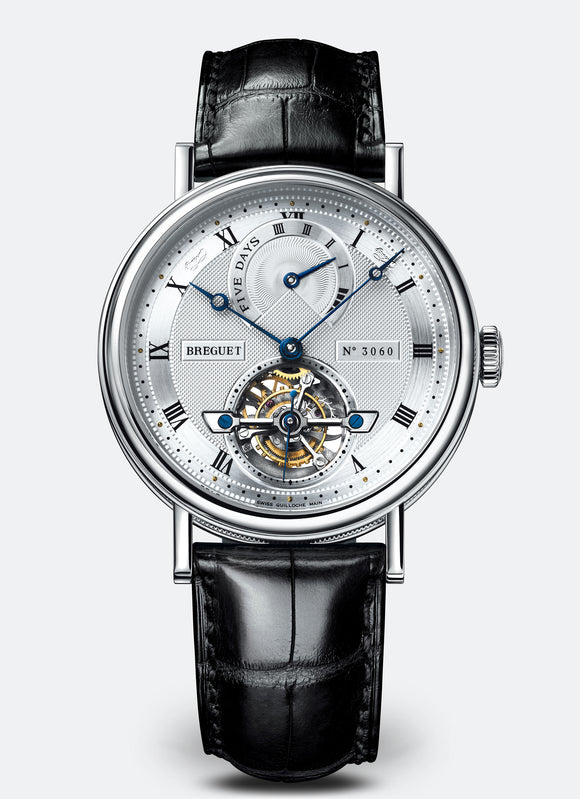 Breguet Classique Complications 5317 Tourbillon Platinum Silver Dial - The Luxury Well