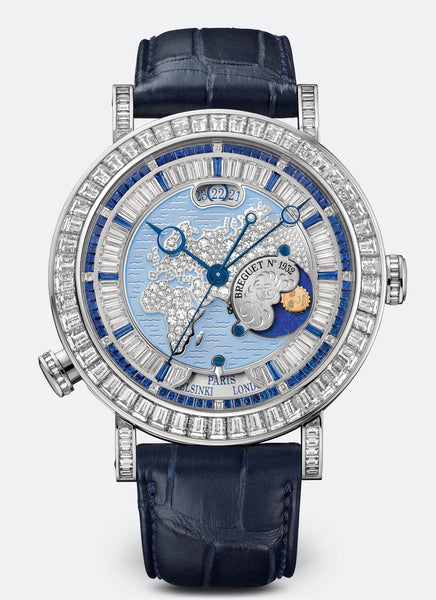 Breguet Classique Hora Mundi 5719 Platinum Silver EU Dial - The Luxury Well