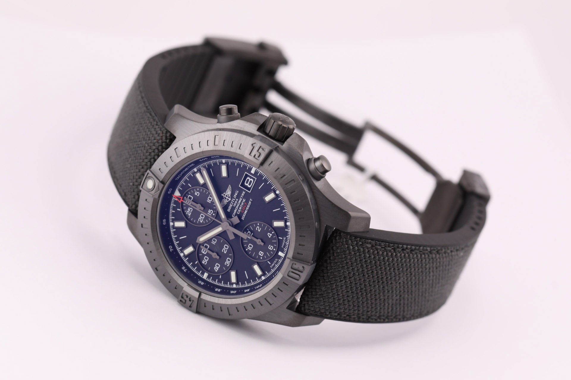 Breitling Colt Chronograph Automatic Blacksteel Military with Folding Buckle