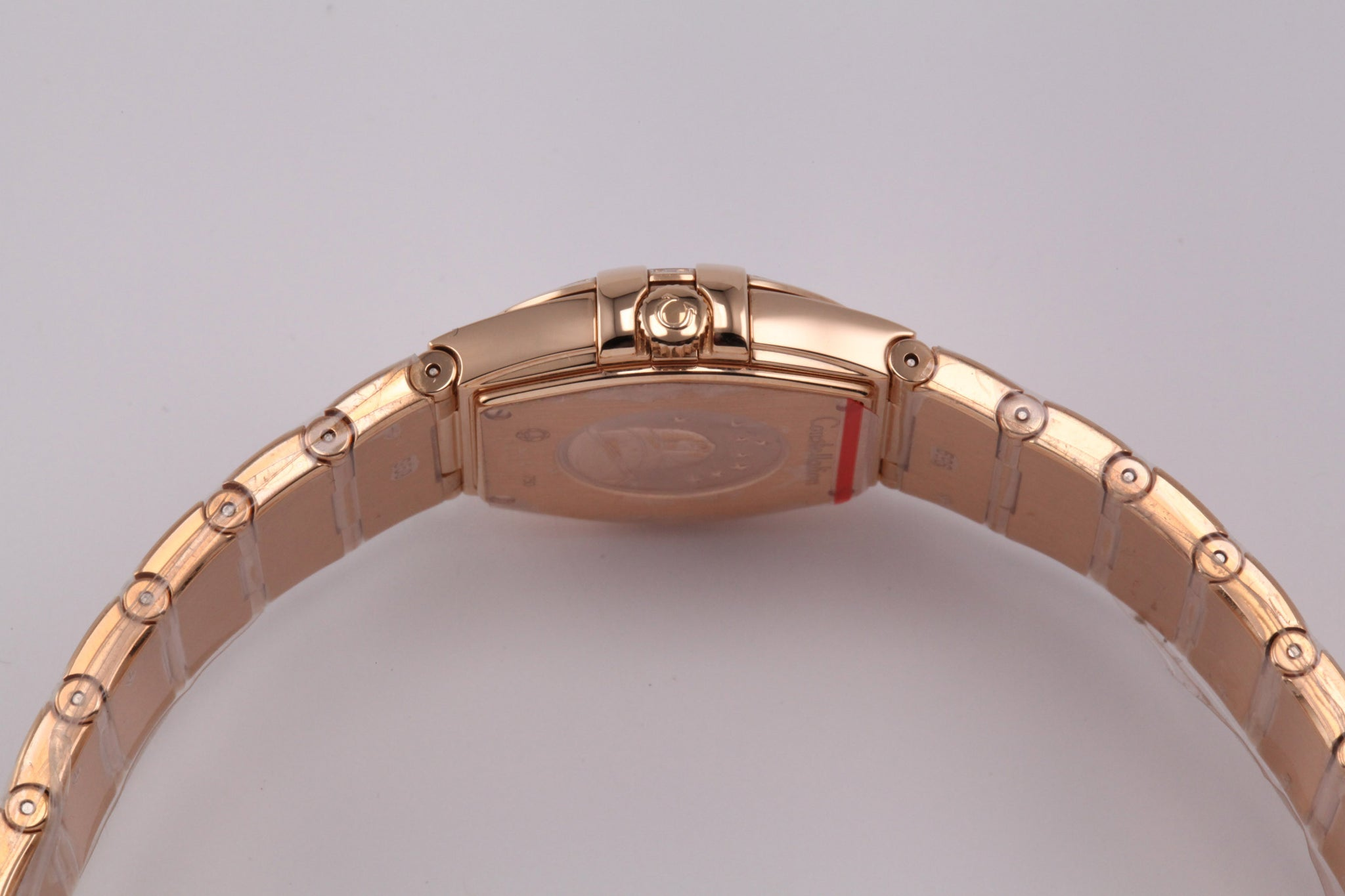 Omega Constellation Ladies 18kt Rose Gold 27 Diamonds Quartz
