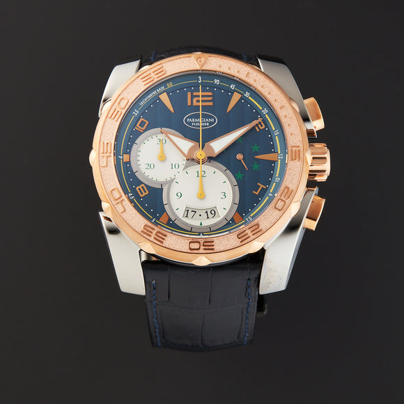 Parmigiani Fleurier Pershing 005 Chronograph Automatic 45mm blue dial - The Luxury Well