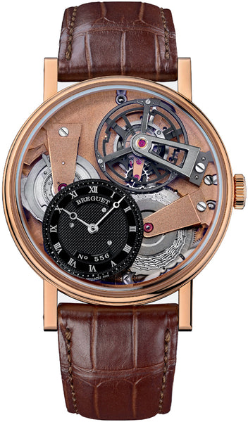 Breguet Tradition Tourbillon Skeleton Hand Wound 18kt Rose Gold - The Luxury Well