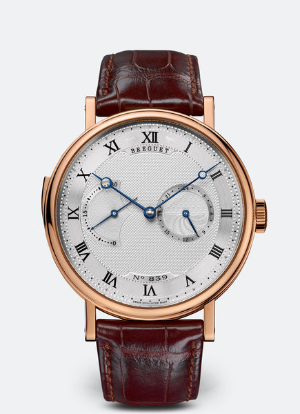 Breguet Repetition Minutes 7637 18kt Rose Gold Silver Dial - The Luxury Well