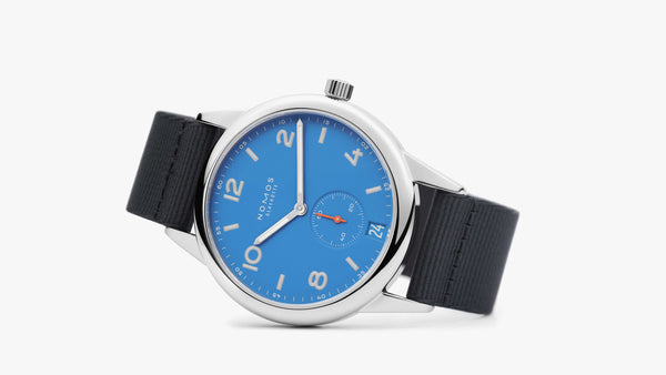NOMOS Club Automatic Date Siren Blue Ref. 777 - The Luxury Well