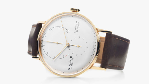 NOMOS Lambda 18kt Rose Gold Silver Dial Rose Gold Hands Ref. 930 - The Luxury Well