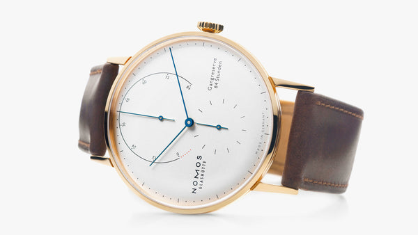Nomos Lambda 18kt Rose Gold Silver Dial, 84h Power Reserve - The Luxury Well