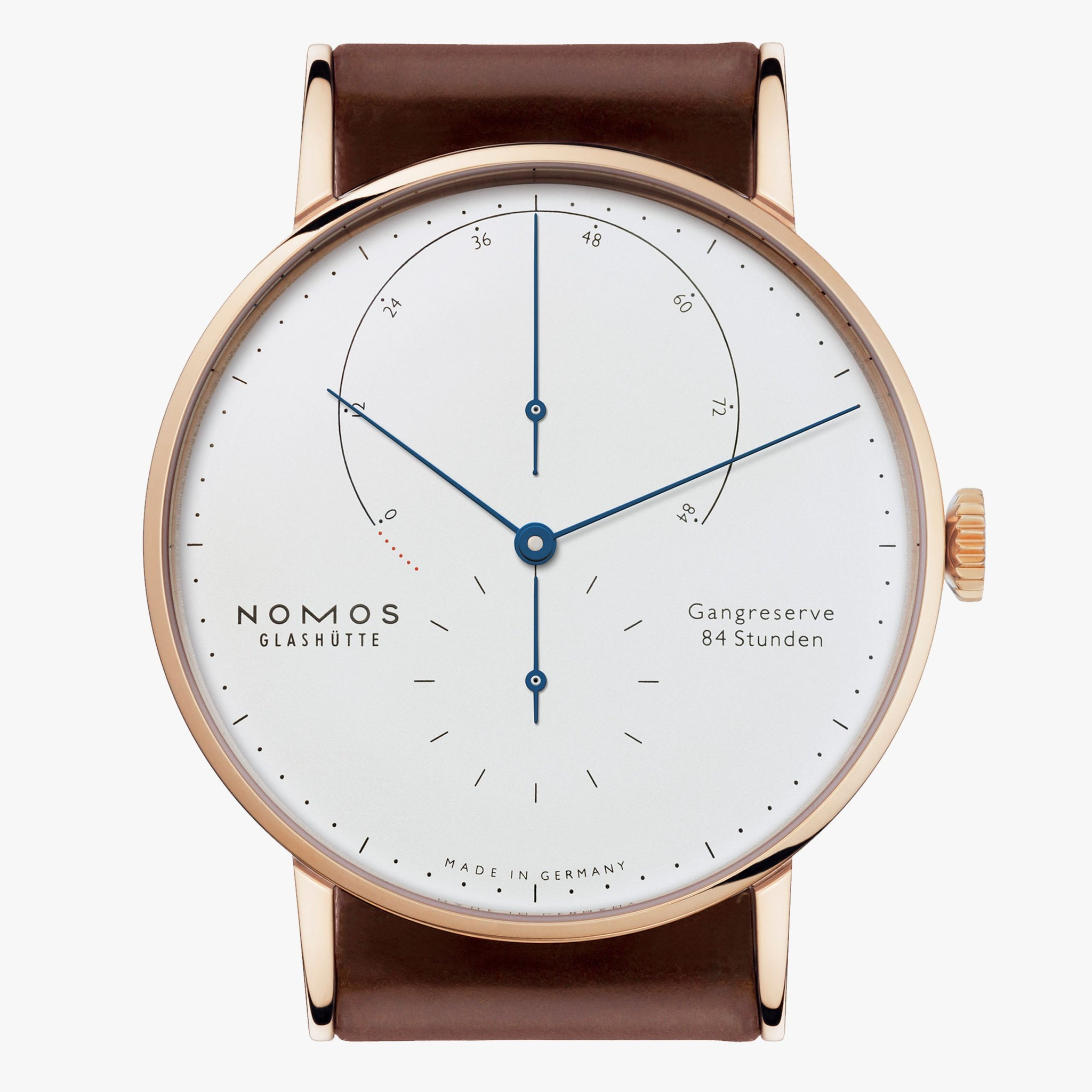 Nomos Lambda 18kt Rose Gold Silver Dial, 84h Power Reserve