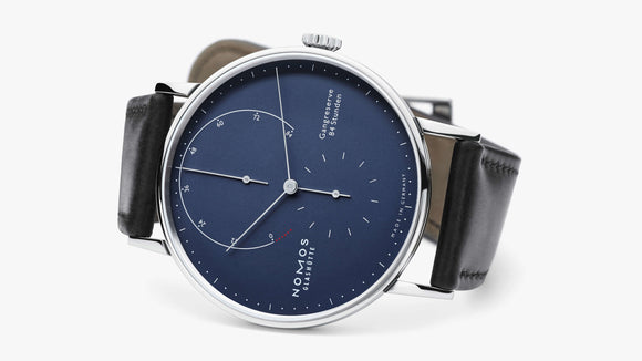 NOMOS Lambda Deep Blue, 84h Power Reserve, White Gold - The Luxury Well