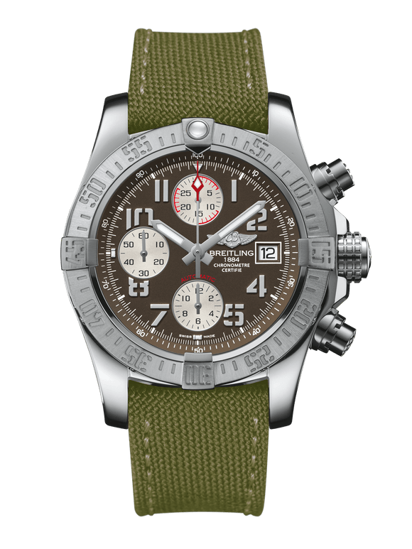 Breitling Avenger II Steel - Tungsten Gray - The Luxury Well