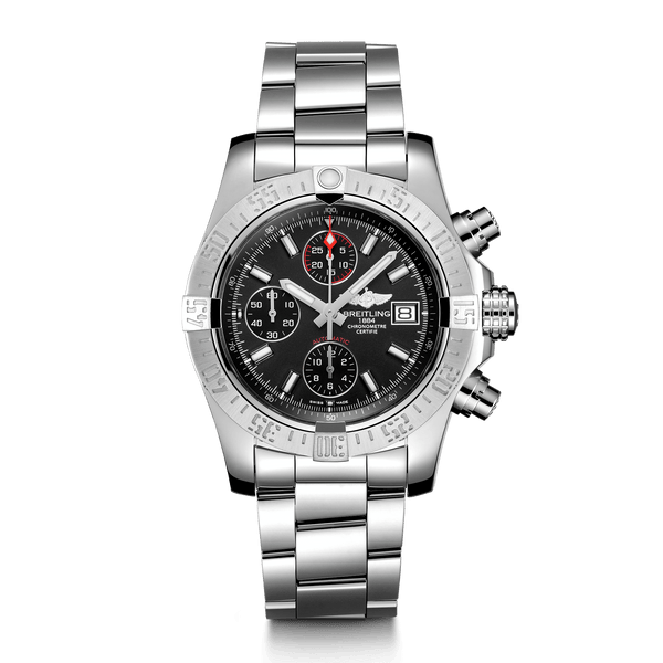Breitling Avenger II Steel - Volcano Black 43mm - The Luxury Well