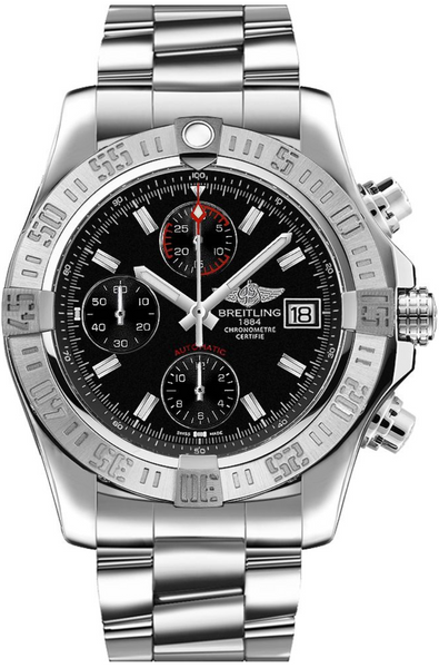 Breitling Avenger II Stainless Steel Black Dial - The Luxury Well