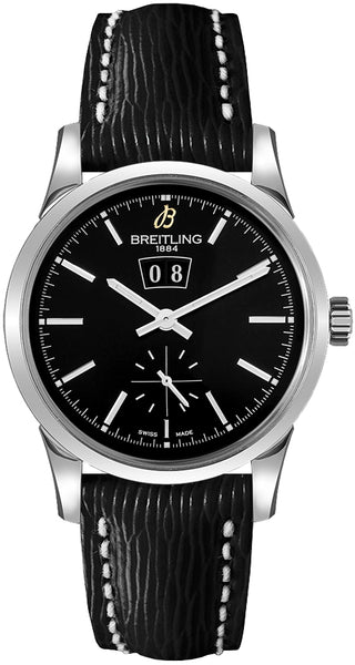 Breitling Transocean 38 Stainless Steel Black Dial - The Luxury Well