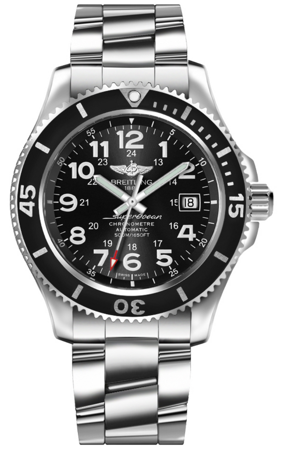 Breitling Superocean II 42 Stainless Steel Black - The Luxury Well