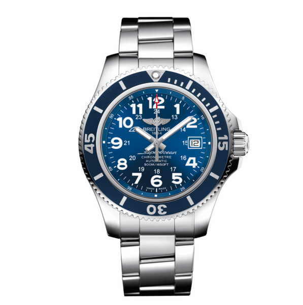 Breitling Superocean II 42 Stainless Steel Blue Dial - The Luxury Well