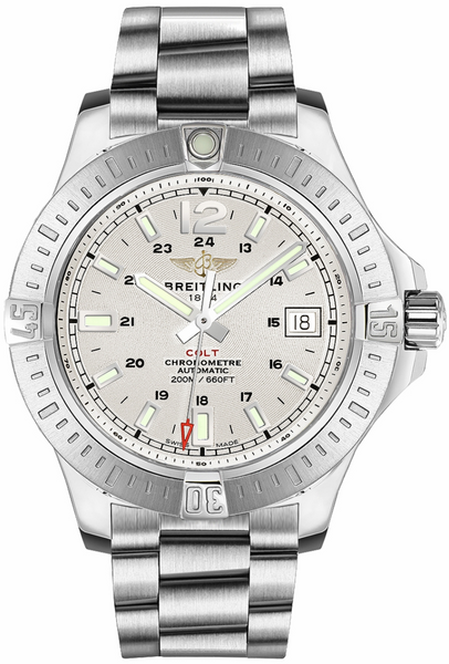 Breitling Colt Automatic Stainless Steel Silver Dial - The Luxury Well