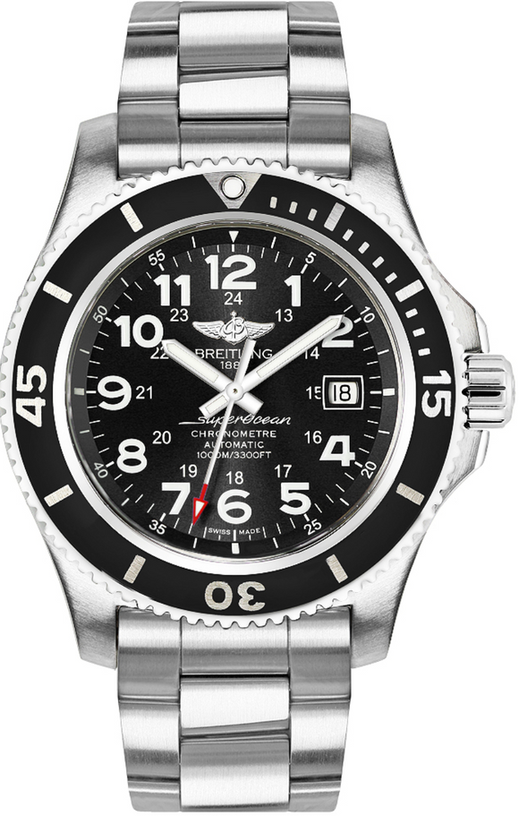 Breitling Superocean II 44 Black Steel Dial - The Luxury Well